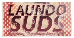 Laundo Soap Suds Advertising Beach Towel