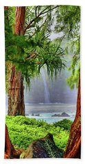 Beach Towel featuring the photograph Laupahoehoe Hawaii by DJ Florek