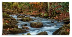 Laurel Fork In The Fall Beach Towel