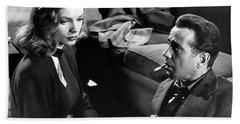Lauren Bacall Humphrey Bogart Film Noir Classic The Big Sleep 1 1945-2015 Beach Towel