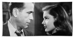 Lauren Bacall Humphrey Bogart Film Noir Classic The Big Sleep 2 1945-2015 Beach Towel