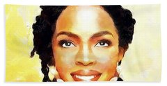 Lauryn Hill Beach Towel by Wayne Pascall