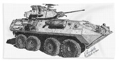 Beach Towel featuring the painting Lav-25 by Betsy Hackett