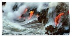 Lava And Ocean Beach Towel