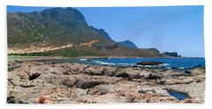 Lava Rocks Of Balos Beach Towel