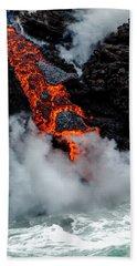 Lava Train Beach Towel