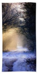 Lavander Snow  Beach Towel by Michele Carter