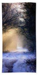 Lavander Snow  Beach Sheet by Michele Carter