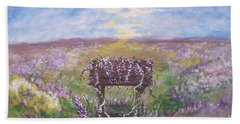 Beach Towel featuring the painting Lavendar Wishes by Leslie Allen