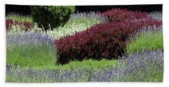 Lavender And Shrub Garden Beach Sheet