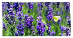 Lavender And The Heart Beach Towel by Ryan Manuel