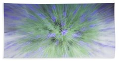Beach Towel featuring the photograph Lavender At The Speed Of Light by Cathy Donohoue