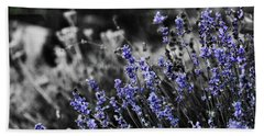 Lavender B And W Beach Towel