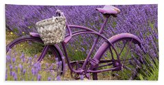 Lavender Bike Beach Sheet