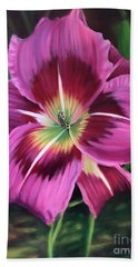 Lavender Daylily Beach Towel