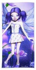 Lavender Fairy Beach Towel