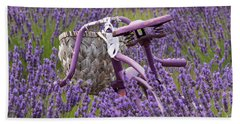 Lavender Farm Bike Beach Towel