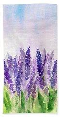 Lavender Field Beach Towel