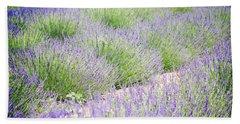 Lavender Field Farm Landscape Beach Sheet by Andrea Hazel Ihlefeld