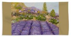 Lavender Field Beach Sheet by Judith Rhue