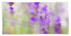 Lavender Fields Forever Beach Sheet