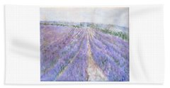Lavender Fields Provence-france Beach Sheet
