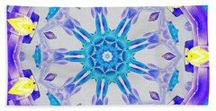 Beach Towel featuring the digital art Lavender Floral by Shawna Rowe