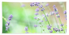 Lavender Garden Beach Towel by Trina Ansel