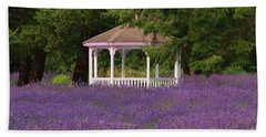 Lavender Gazebo Beach Towel