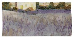 Beach Towel featuring the painting Lavender by Guido Borelli