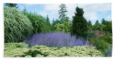 Beach Towel featuring the photograph Lavender In The Middle by Lois Lepisto