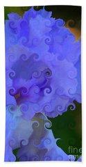 Lavender Curlicue Iris  Beach Sheet