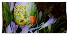 Lavender Loveliness Beach Sheet by Living Color Photography Lorraine Lynch
