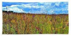 Lavender N Ocra Field Beach Sheet
