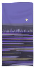 Beach Towel featuring the digital art Lavender Reflections by Val Arie