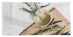 Beach Towel featuring the photograph Lavender Still Life 2 by Rebecca Cozart