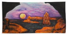 Lavender Sunrise Beach Towel