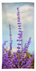 Beach Sheet featuring the photograph Lavender To The Sky by Kerri Farley