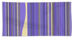 Beach Towel featuring the digital art Lavender Twilight - Stripes by Val Arie