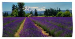 Lavender Valley Farm Beach Towel