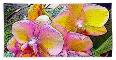 Lavender / Yellow  Beach Towel