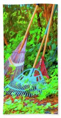 Lawn Tools Beach Towel by Tom Singleton