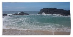 Layered Waves Beach Towel