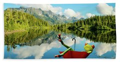 Beach Towel featuring the digital art Lazy Days by Nathan Wright