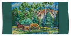 Lazy Wyoming Afternoon Beach Towel