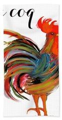 Le Coq Art Nouveau Rooster Beach Towel by Mindy Sommers