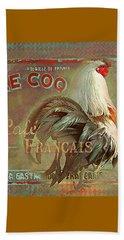 Le Coq - Cafe Francais Beach Towel by Jeff Burgess