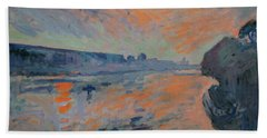 Le Coucher Du Soleil La Meuse Maastricht Beach Towel by Nop Briex