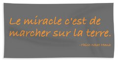 Le Miracle Beach Towel by Julie Niemela