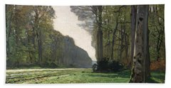 Le Pave De Chailly Beach Towel by Claude Monet